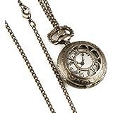 ESS - Damenuhr - Taschenuhr - bronze - Quarz - mit Halskette - WP036