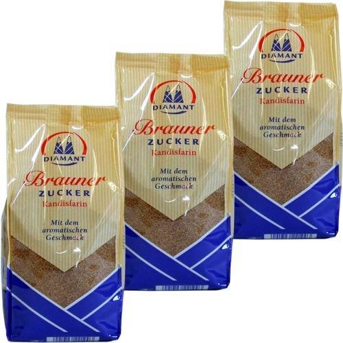 Diamant Brauner Zucker, Kandisfarin (3 Beutel á 500g )