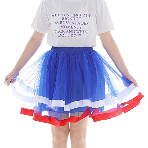 Kostüm Tanz Dalmatiner - KPPONG Tüllrock Damen Mesh Petticoat Tüll Tutu Röcke Tanz Party Bühnen Kostüm Show Cosplay Unterrock Rockabilly Kleid