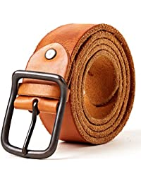 3ZHIYI hommes Ceinture En 100% cuir,Ceinture En Cuir Pleine Fleur Jeans ceintures  pour 2bf488d66f6