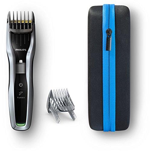 Philips Hairclipper Series 5000HC5450/90–Rasierer (schwarz, silber, Rechteck, Titan, 2,3cm, 0,5mm, 4,1cm) (Rechteck-serie)