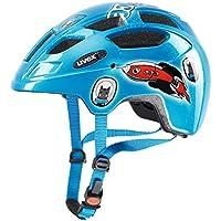 Uvex niños Finale Junior LED Bicicleta Casco, Primavera/Verano, Infantil, Color Space Rocket, tamaño 48-52 cm