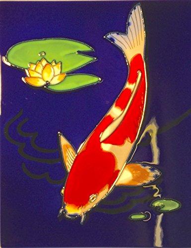 yh-arts-single-koi-ceramic-tiles-multi-colour-11-x-14-inch