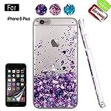 Atump Coque iPhone 6 Plus avec Protecteur d'écran, Diamant Liquide Paillette...