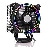 GOLDEN FIELD PBZ8 Serie Intelligente Dissipatore di Calore con 4 Heatpipes & 120MM LED Ventola Raffreddamento a Basso Rumore del Radiatore di Raffreddamento del CPU per Intel e AMD