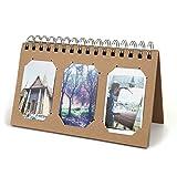 Mogoko 60 Seite DIY Schreibtisch Kalender Album Mini Fotoalbum für Fujifilm Instax Mini 7S 8 50 70 90 25s/Pringo 231/Fujifilm Instax SP 1/ Polaroid PIC-300P Z2300/ LG PD 233 PD 239 Fotoalben (Braun)