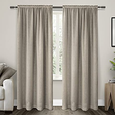 Exclusive Home Curtains Belgian Textured Linen Look Jacquard Sheer Rod