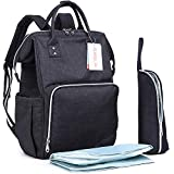 Motherly Diaper Bag Multi-Function Waterproof Travel Backpack Nappy Bags For Baby Care, Large Capacity, Stylish And Durable (Black)