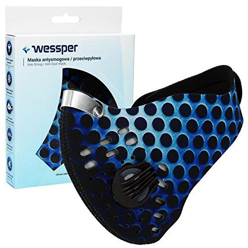 ✧WESSPER® Anti Verschmutzung Sport Maske mit Filter Staubdicht Anti Smog Outdoor Ausreit Radfahren Schulung Motorrad Face Maske Unisex