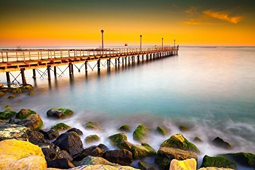 111126-31-kanika-pier-a4-matted-fine-art-photograph-sunset-seascape-time-lapse-best-for-home-and-off