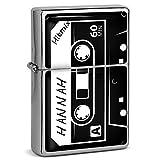 PhotoFancy® - Sturmfeuerzeug Set mit Namen Hannah - Feuerzeug mit Design Kassette - Benzinfeuerzeug, Sturm-Feuerzeug