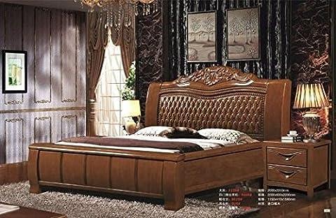 Ma Xiaoying Ensembles de chambre à coucher. Bois MASSIF. Style simple et uni, comprend 2pcs: lit King size, support de nuit. Noisette par MA Xiaoying.