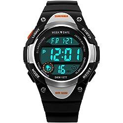ETOWS® Boys Girls Sport Digital Watch Waterproof Students Children''s Wrist Watch (Black)