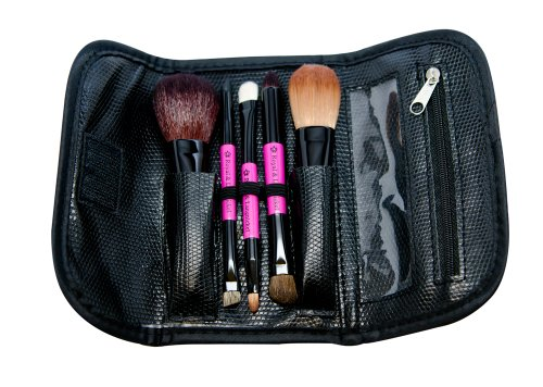 Royal & Langnickel Travel Essentials 5-Piece Cosmetic Brush Travel Set (Pink)