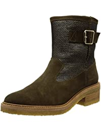 Castañer Kennedia-Suede - Botines para Mujer, Color Military, Talla 36