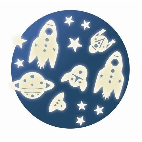 (Djeco Leuchtsterne Glow in the Dark Space Mission Set)