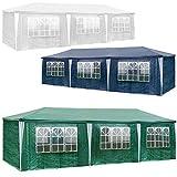 TecTake Carpa pabellón tienda de 3x9m 9x3m para eventos y fiestas 27 metros cuadrados jardin - disponible en diferentes colores - (Verde | No. 401292)