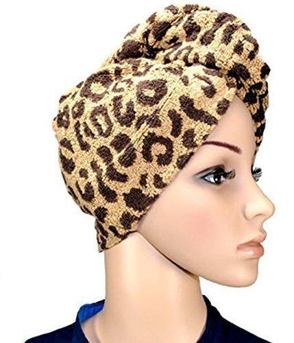 Haarpunzel Turban Haartrockentuch Handtuch Kopftuch TOP Ware(Ausführung: Leopard) (Leopard Handtücher)