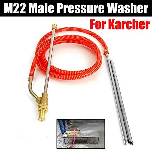 Kit de sablage pour Karcher série M22, nettoyeur haute pression, sable, sablage et pistolet humide, kit professionnel de lavage de voiture avec buse humide