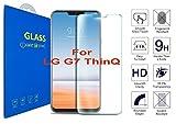 What@Store LG G7 ThinQ - Schutzfolie [3D Gebogen Full Deckung] - 3D Curved Kante zu Kante gehärtetem Glas Displayschutzfolie mit 9H Härte für LG G7 ThinQ (Clear)