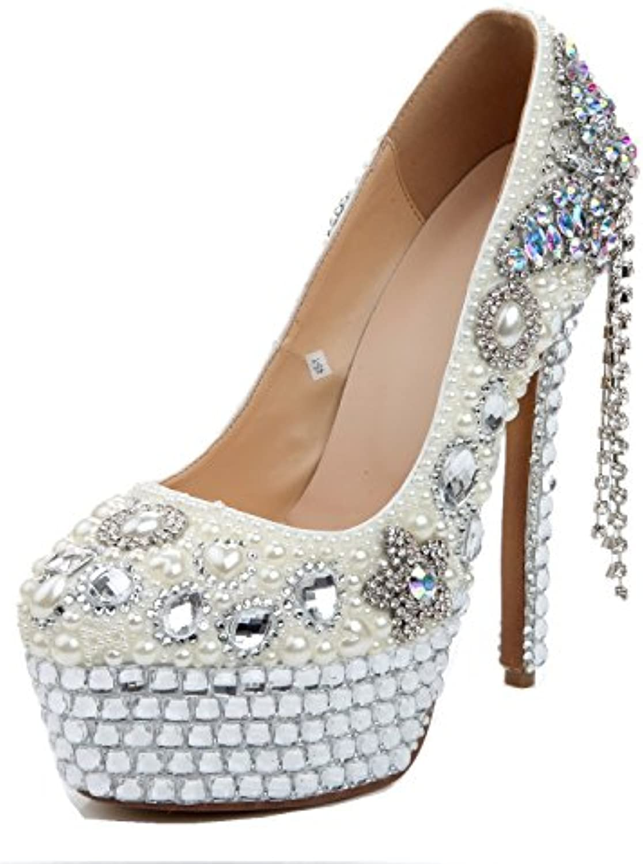 f66e4dab9f67 L@YC Femmes Chaussures à Talons Hauts Printemps Été  Strass Similicuir Similicuir Similicuir Mousseux 14cm Talon pour Fê ...