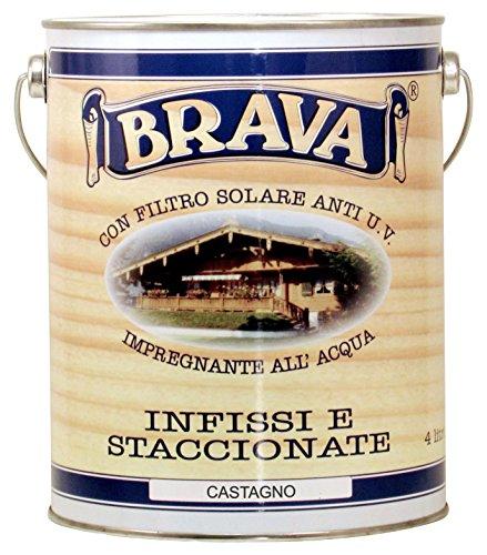 BRAVA isc4Imprägniermittel für Holz wasserfest, kastanie, 4000ml (Kastanien-farbstoffe)