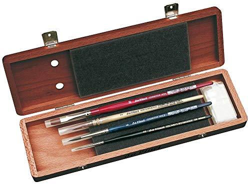 Serie Schwarz Holz (Da Vinci 5280Serie Wasser Farbe Pinsel-Set, Holz, braun, schwarz/rot, 30x 30x 30cm)