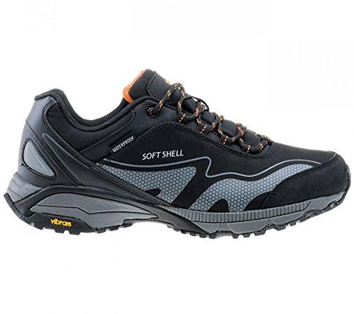 Hi-Tec Kangri Low WP Herren Chaussures de Plein air Noir Chaussures Homme Baskets Top