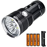 lampe torche puissante de type militaire avec led t6 28 000 lumens 58 000 w et zoom. Black Bedroom Furniture Sets. Home Design Ideas