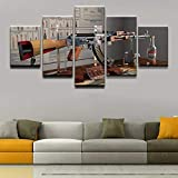 kuanmais Waffen Ak-47 Modell 5 Stück Home Canvas Decor Hd Print Wandkunst Für Wohnzimmer Malerei Wandkunst Malerei Leinwand d