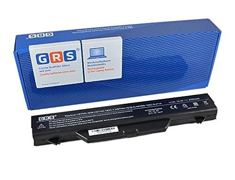 GRS Batterie d'Ordinateur Portable pour HP ProBook 4515s, HP ProBook 4710s, HP ProBook 4710, compatible pour HSTNN-IB88, 593576-001, HSTNN-LB88, HSTNN-IB89, 535753-001, 591998-141, HSTNN-OB88, HSTNN-W79C-7, 513129-361, 572032-001, HSTNN-OB89, 513130-321, NZ375AA, HSTNN-I62C, HSTNN-1B1D, HSTNN-I60C, portable avec 4400mAh/63Wh, 14,4V