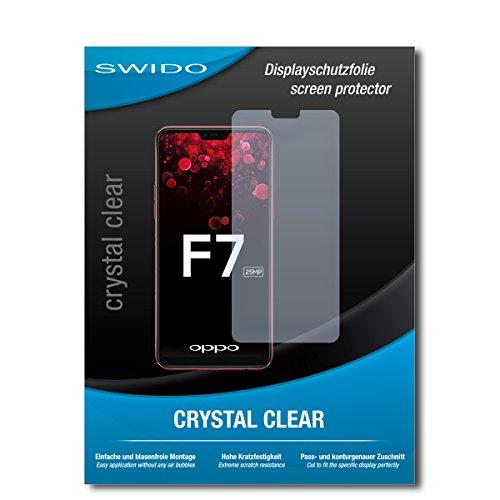 SWIDO Schutzfolie für Oppo F7 [2 Stück] Kristall-Klar, Hoher Härtegrad, Schutz vor Öl, Staub & Kratzer/Glasfolie, Bildschirmschutz, Bildschirmschutzfolie, Panzerglas-Folie