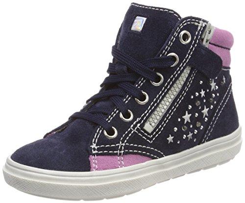 Richter Kinderschuhe Mädchen Blinki (ILVA) Hohe Sneaker, Blau (Atlantic/Candy), 33 EU