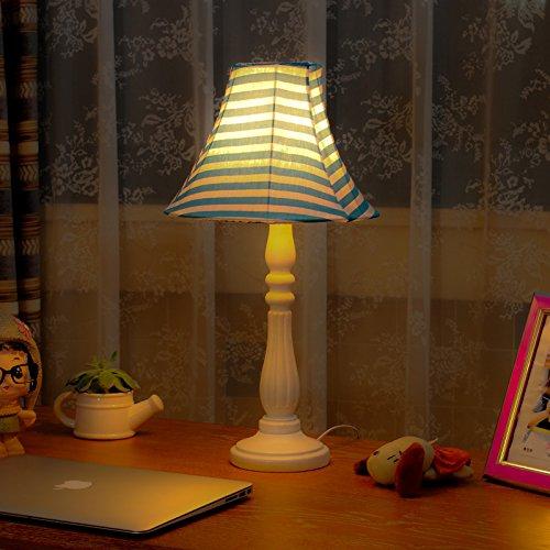 SAEJJ-Creative resina stoffa lampada da tavolo camera da letto Decorazione (Contemporanea Per Porte Scorrevoli)