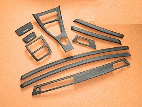 Dekorleisten Interieurleisten Carbon 3D Struktur Folien Set passend für E92 Coupe E93 Cabrio