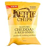 Kettle Chips | Mature Cheddar & Red Onion | 2 x 18 x 40g