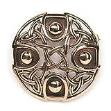 keltischer Schmuck Brosche Bronze mit hochwertiger Bronzenadel Gewandnadel mittelalterlicher Schmuck Durchmesser: