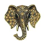 QUKE Damen Modeschmuck Are Deco Gold-Ton Elefant Antik Silber Strass broschen für Kleidung