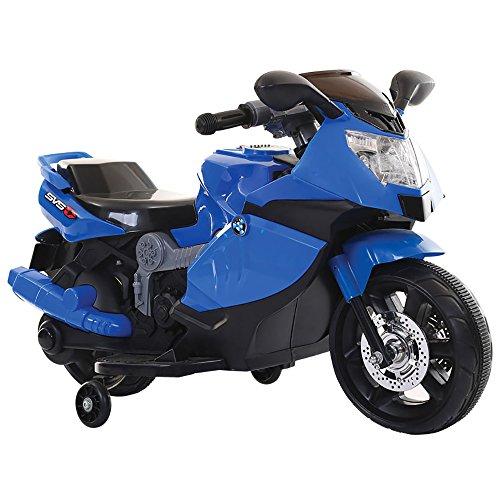 kidfun Moto Motocicletta Elettrica per Bambini 6V Sportiva Blu