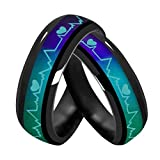 Atongham ECG Heartbeat Mood Ring Changes Color of The Temperature of Your Blood