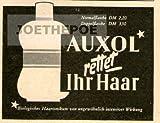 1951 Anzeige / Inserat : AUXOL HAARWASSER - Format 50x70 mm - alte Werbung / Originalwerbung/ Printwerbung / Anzeigenwerbung