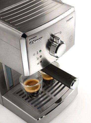 Saeco Poemia Inox HD8427/11   Máquina de café espresso manual para café molido y monodosis E.S.E.  950 W  color plateado