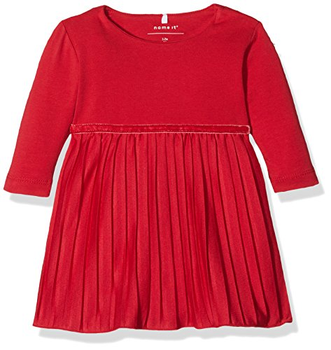 n Kleid Nitficarla LS Dress F NB, Rot (Jester Red), 74 (Jester Mädchen)