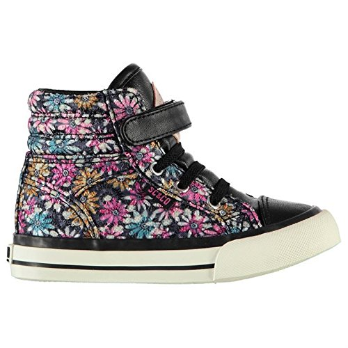 Soulcal Enfant Asti Chaussures Montantes Filles Baskets A Lacets Sneakers Casual Rose Floral