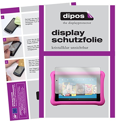 dipos I 2X Schutzfolie klar passend für Amazon Fire 7 Kids Edition (2017) Folie Displayschutzfolie
