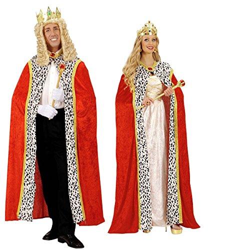 Karneval König Kostüm Und Königin - Karneval-Fasching-Shop König Königin Edeler Königsumhang Königsmantel Prinz 150cm