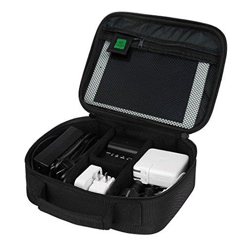 BlueBeach® Reisen Elektronik Zubehör Organizer Tasche Fall für Ladegeräte / Kabel / Batterien / Powerbank / Speicherkarten / Adapter / Stecker / Externe Festplatte / Smartphones / Kameras