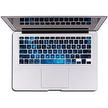 Pegatinas de piel para teclado azul
