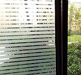 Concus-T Static Cling nessun adesivo vinile premio Decorative Frosted Stripes Privacy Window Film 90*300cm