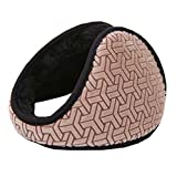 Unisex Fleece Earmuffs Foldable Ear Muffs Winter Outdoor Earmuffs (Coffee)
